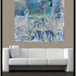 Contemporary Art 2 t above Sofa by Artist Todd Krasovetz
