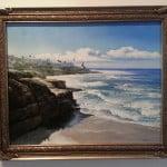 la Jolla Shores, CA original Oil on Canvas by artist Todd krasovetz 2013
