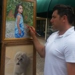 Artist Todd Krasovetz Painting Oil Portraits on site in Rancho Santa Fe