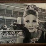 Audrey Hepburn the Del Mar Races oil on Canvas by Artist Todd Krasovetz 2013. Please call 1.619.490.9985 for more information.